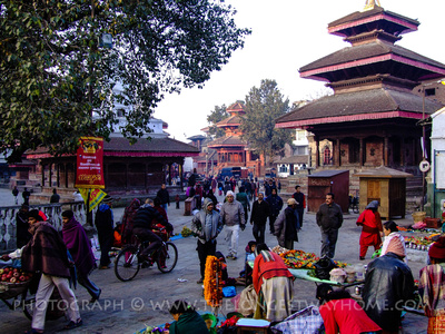 Kathmandu Durbar Square north east entrance