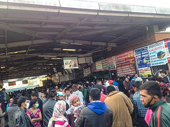 full bus station in Kathmandu