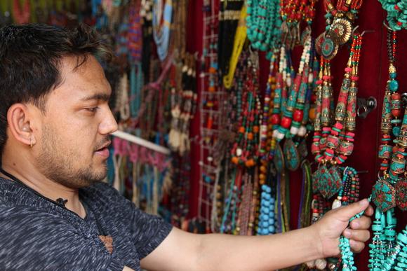Handmade jewelery in Kathmandu