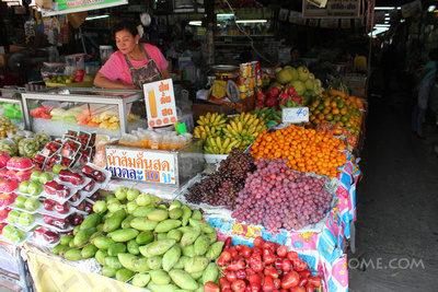 Local fruit stall in new Sukhothai