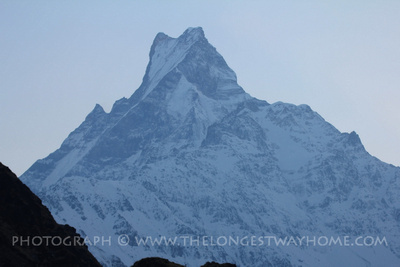 Machhapuchhre on the Annapurna Sanctuary (ABC) trek