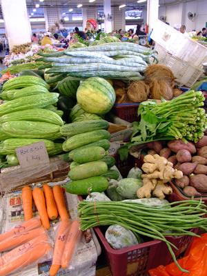 Fresh Vegetables at Sandakan Market