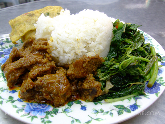 Beef Rendang and Ulam Raja from Malaysia