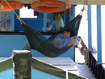 Sleepy fishermen in Sandakan