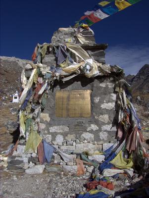 Climbers memorial in Lobuche Nepal