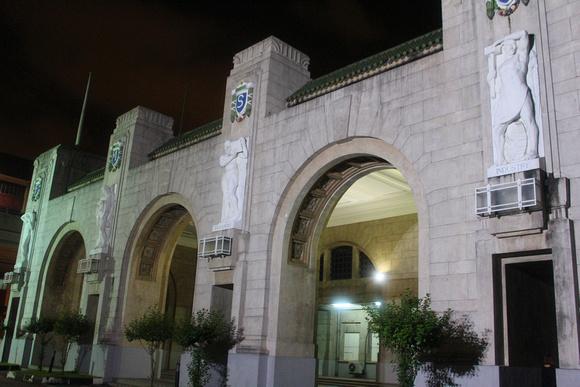 Tanjong Pagar railway station at night