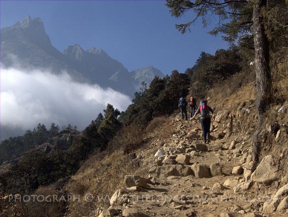 Trekking through Tenboche Nepal