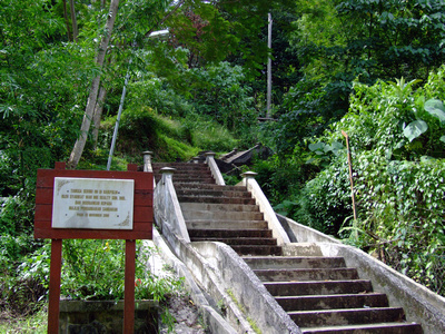 The steps leading to Agnes Keith's house in Sabah