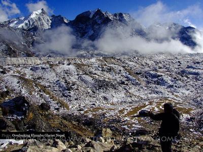 Overlooking Khumbu Glacier Nepal