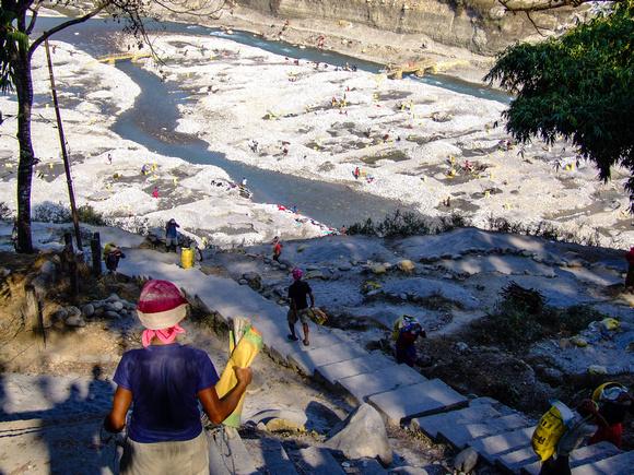 The River Seti mine in Pokhara Nepal