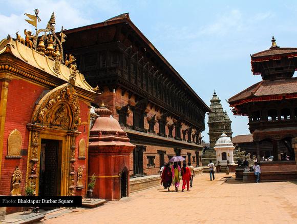 Golden Gate, Palace of 55 windows, Siddhi Laxmi Temple & Pashupatinath Temple in Bhakrapur Durbar Square
