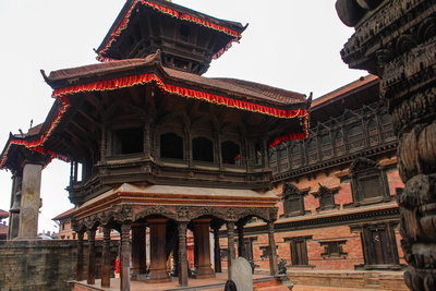 Replica of the ancient Pashupatinath Temple in Bhaktapur