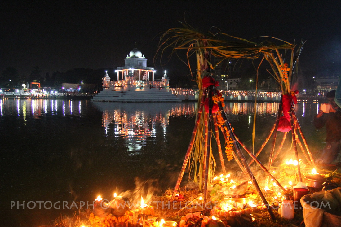 Rani Pokharai temple during Chhath in Kathmandu