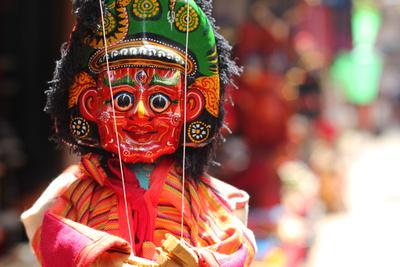 Handmade Paper Mache puppet in Bhaktapur