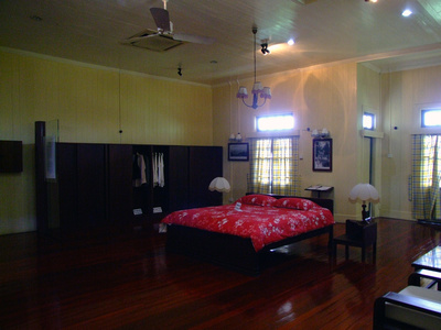 The master bedroom of Agnes Kieth's house