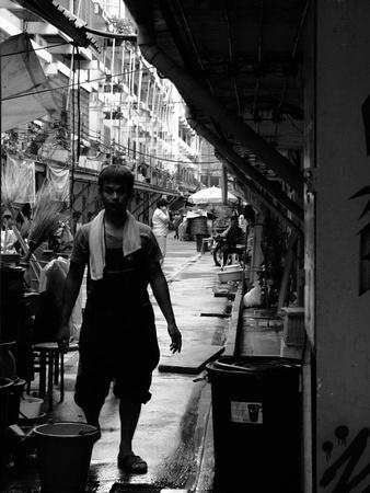 Dark streets in Bangkok Thailand