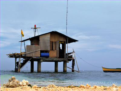 Remote house over water