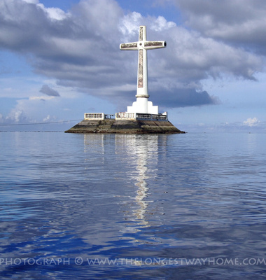 Cross at the Sunken Cemetery in Camiguin Island in The Philippines