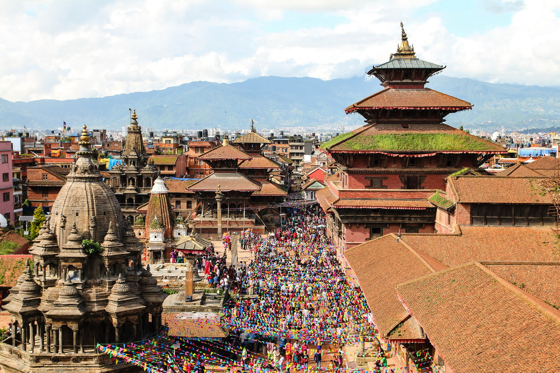 Patan's new skyline after the earthquake