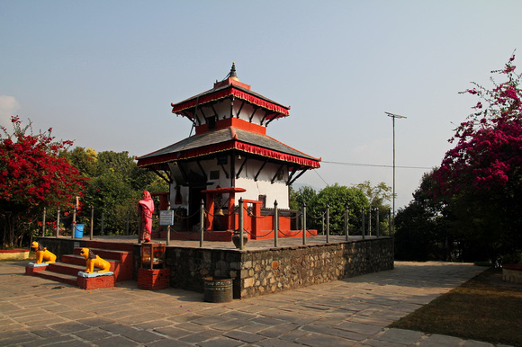 The Badrakali Temple in Pokhara, the area's oldest