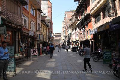 Freak Street or Jhochhen in Kathmandu