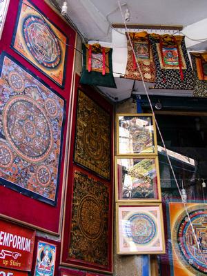 A store selling Thanka paintings in Kathmandu