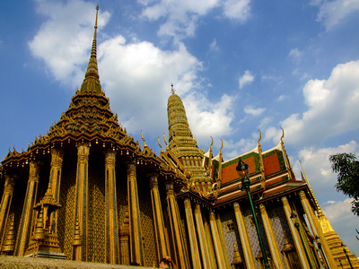 Temple of the Emerald Buddha inside the Grand Palace