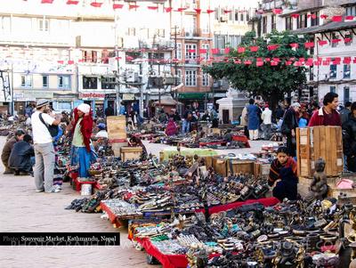 Souvenir market Kathmandu