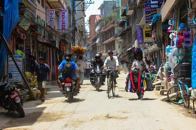Average street in Kathmandu