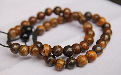 Tiger eye beads in a bracelet