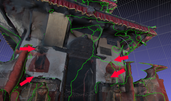 3D reconstruction of the Bhadrakali temple in Pokhara