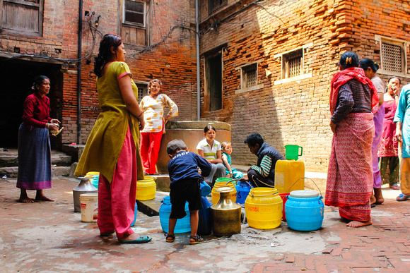 Collecting water in Nepal
