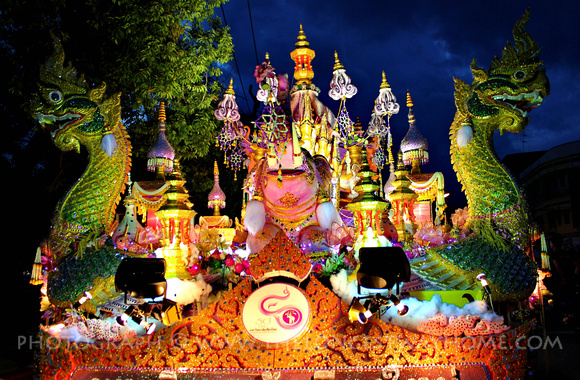 Dragon float from Loi Krathong