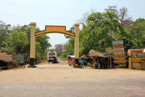 Ambassa: the entrance to Bardia National Park