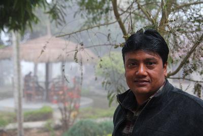 President of the United Elephant Cooperative Deepak Bhattarai in Nepal