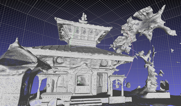 3D render of a temple in Nepal