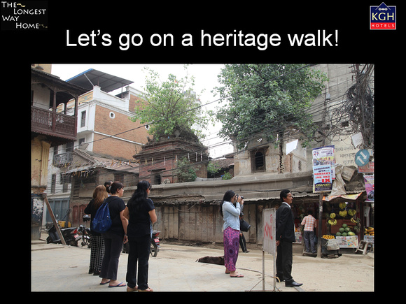 Heritage walk presentation for the book launch in Nepal