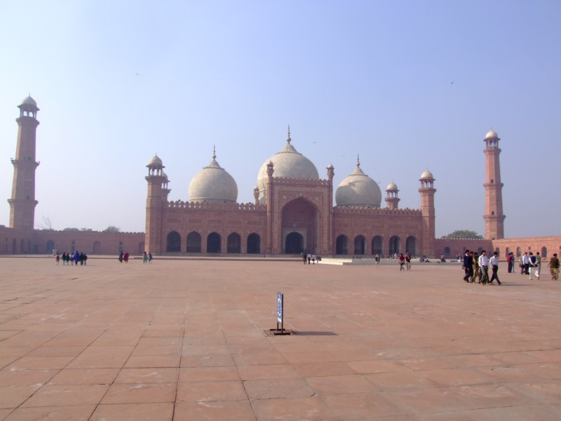 The Huge Badshahi Mosque in Lahore, Pakistan