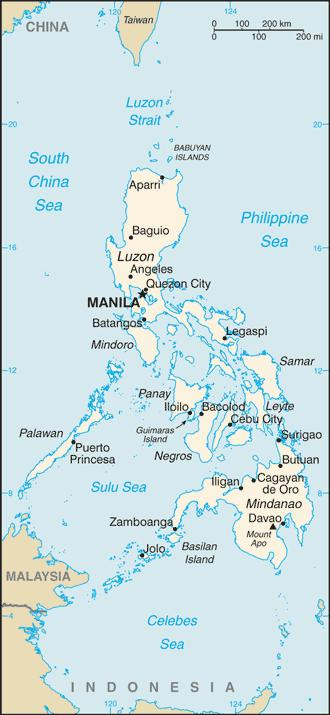Map of the Philippine Regions