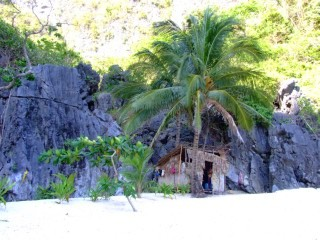 Real life hermits living on an island in the Philippines