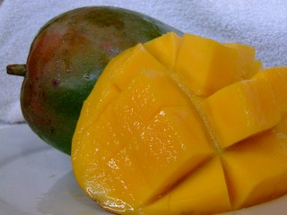 A Carabao and regular mango from the Philippines
