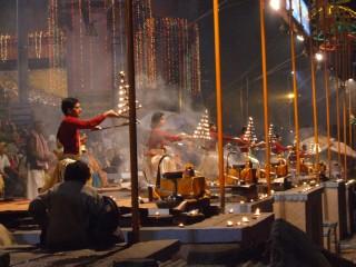 Every night they celebrate on the Ganges, Varanasi, India