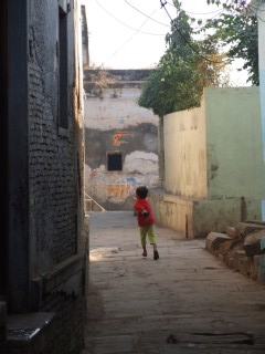 Child in Indian Alleyway, - last look at India