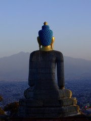 Buddha looking out at Nepal