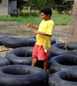 joining tire tubes for river mining
