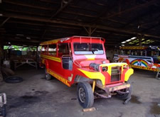 Newly painted Filippino Jeepney