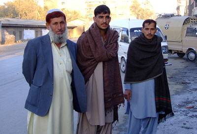 Pakistani locals in Quetta posing for a photograph