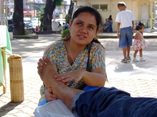 Gracia, a blind Masseuse from the Philippines