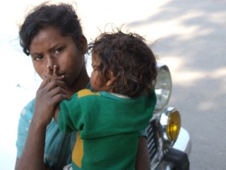 Young Street Girl and Baby, Saranath, India
