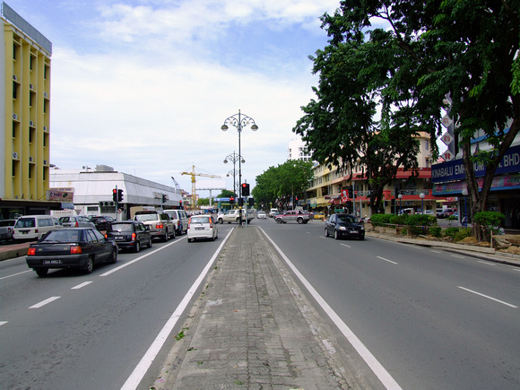 Clean road of Kota Kinabalu